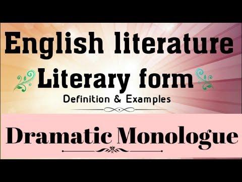 ENGLISH LITERATURE LITERARY FORMS // DRAMATIC MONOLOGUE DEFINATION AND EXAMPLES // HINDI