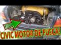 CIVIC COM MOTOR DE FUSCA TRASEIRO! ELE ANDA!