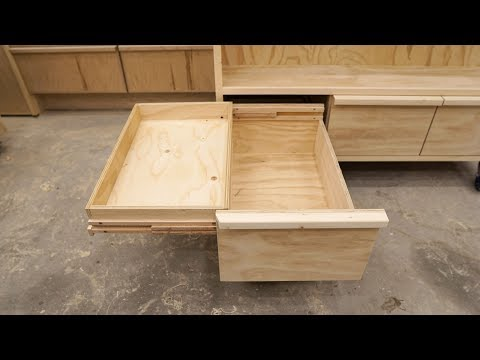 Double Deck Drawers On Wooden Full Extension Slides