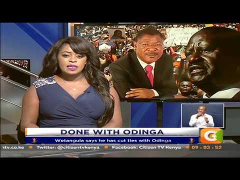 Wetangula says he has cut ties with Odinga