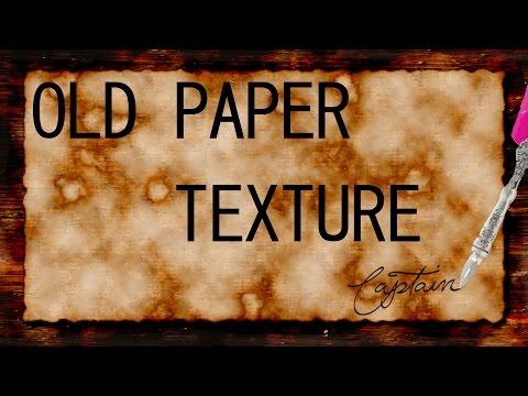 Photoshop CS6 Old Paper Texture