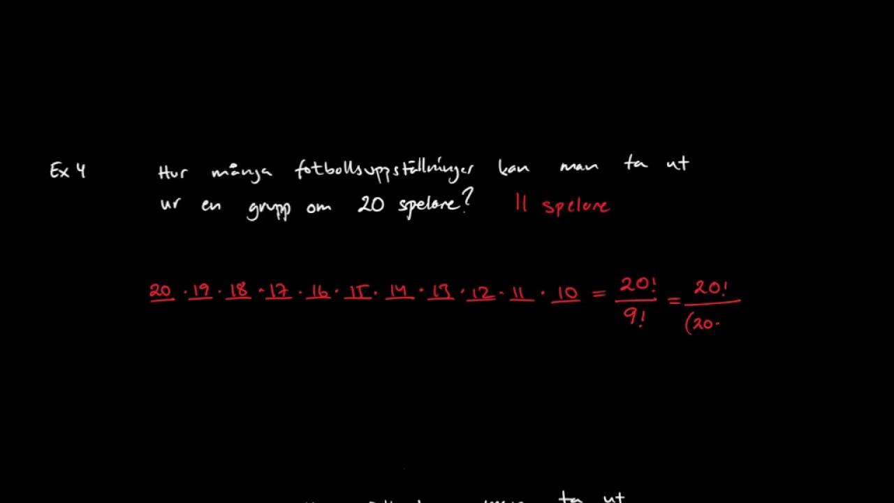 Matematik 5: Permutationer och kombinationer