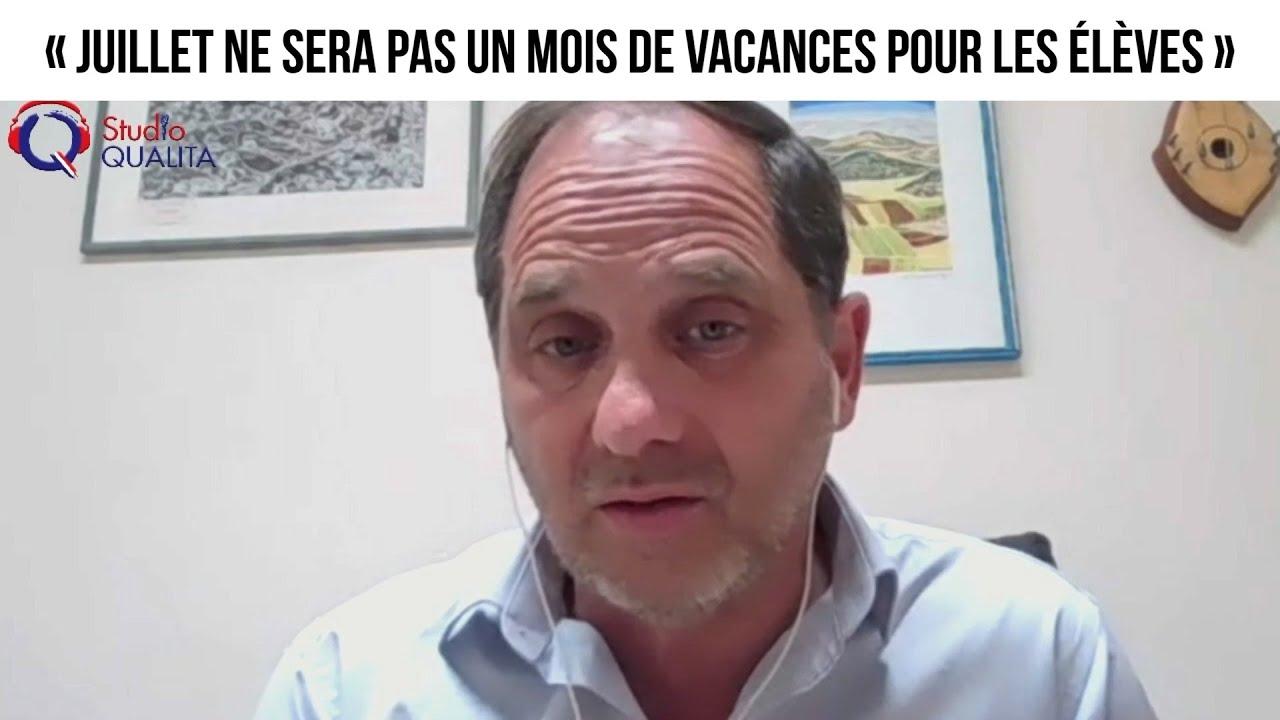 « Juillet ne sera pas un mois de vacances pour les élèves » - L'invité du 18 avril 2021