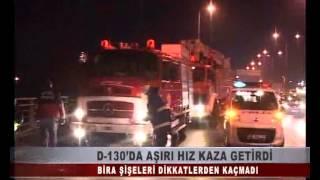 KOCAELİ TV  -D-130'DA AŞIRI HIZ KAZA GETİRDİ