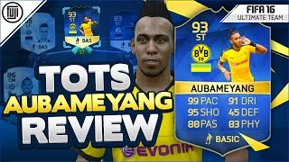 Tots (93) aubameyang player review! - fifa 16 ultimate team