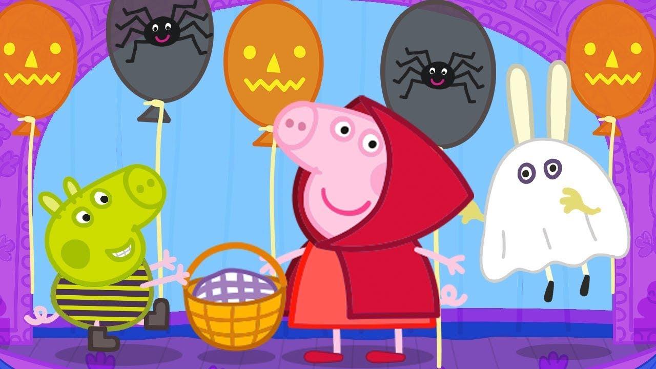 Peppa Pig Italiano ❤️ Vestirsi Da Cappuccetto Rosso Per Halloween 🎃 Cartoni Animati