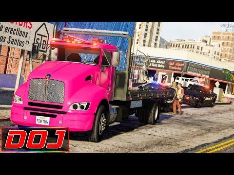 GTA 5 Roleplay - DOJ #53 - Attempted Cop Car Repo