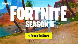 Fortnite v5.0 ALL *NEW* MAP CHANGES + NEW VEHICLE + SEASON 5 BATTLE PASS SKINS!