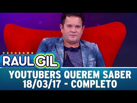 Youtubers Querem Saber Com Ximbinha | Programa Raul Gil (18/03/17)