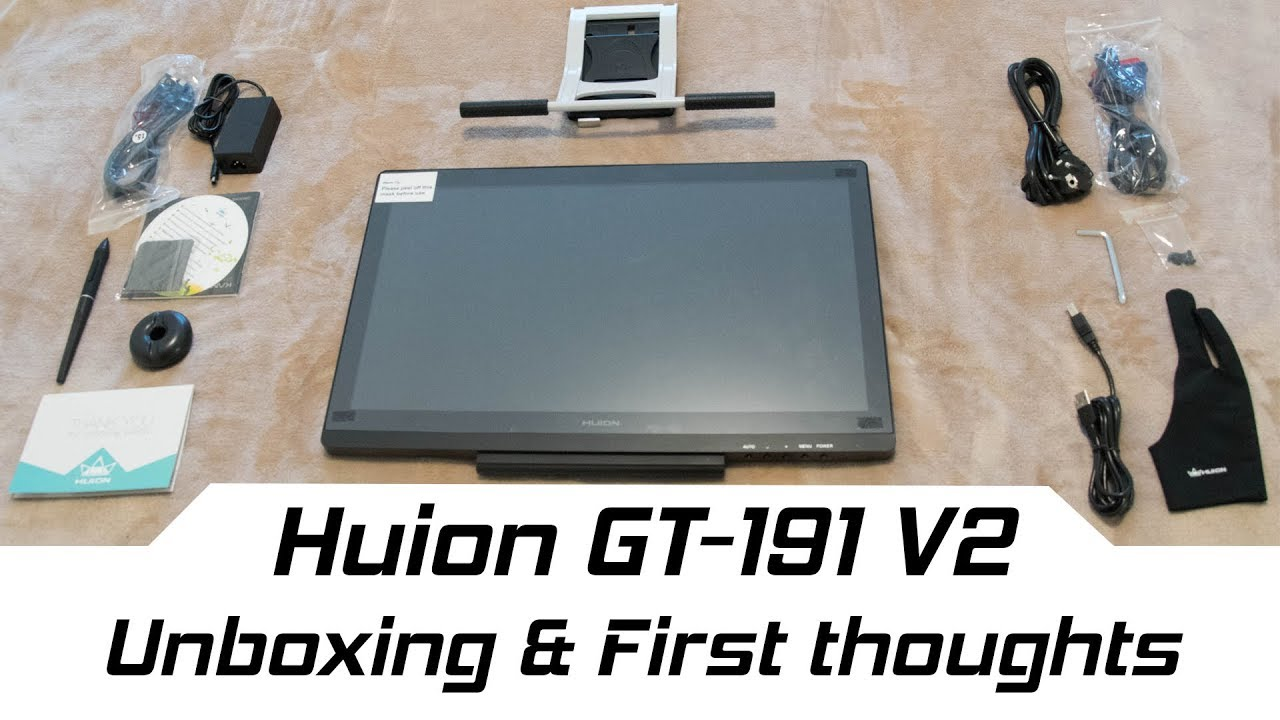 Huion GT-191 V2 Unboxing & First thoughts - YouTube