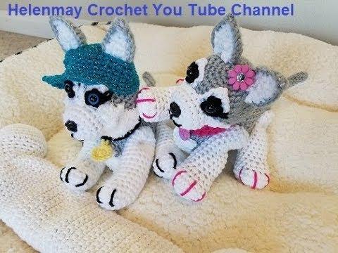 Crochet Extra Small Amigurumi Siberian Husky Part 1 of 2 DIY Video Tutorial