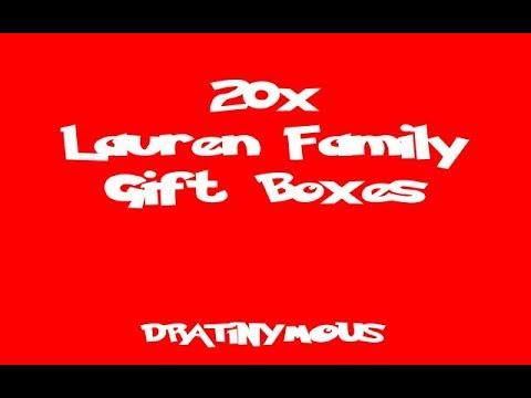 20x Lauren Family Gift Boxes