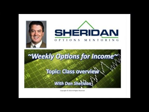 Trading Weekly Options for Income in 2016