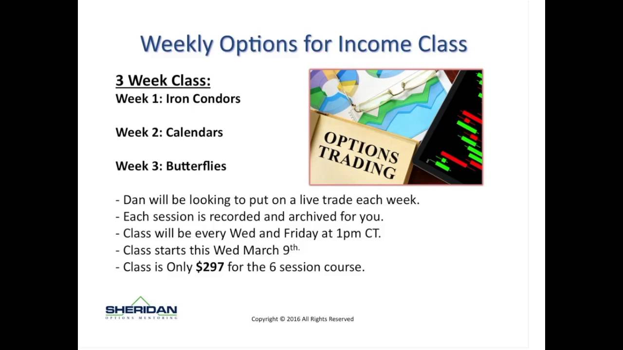 Trading index options for income