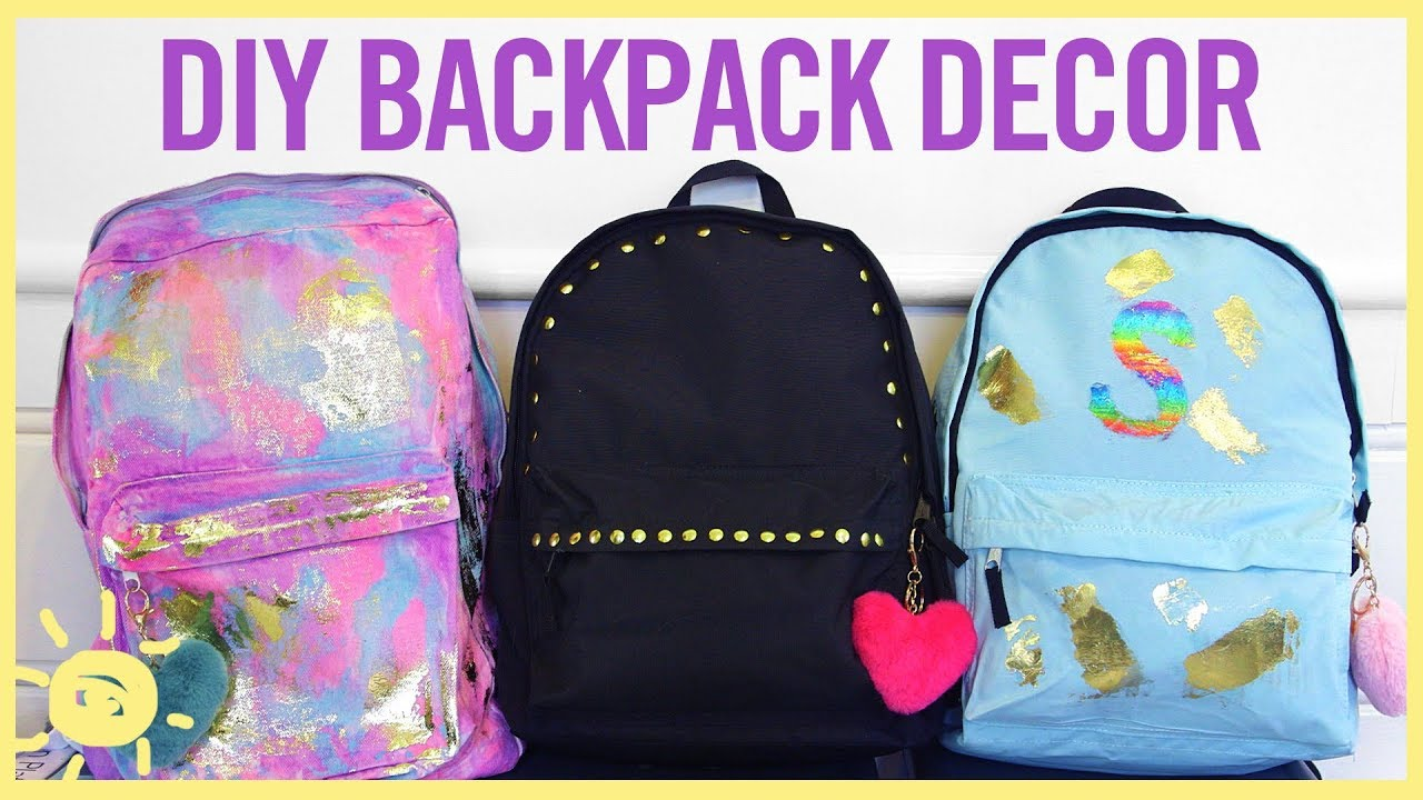 Download STYLE & BEAUTY | DIY Backpack Decor
