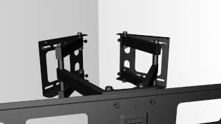 Corner Installation Articulating Wall Mount, Xantron STRONGLINE-484