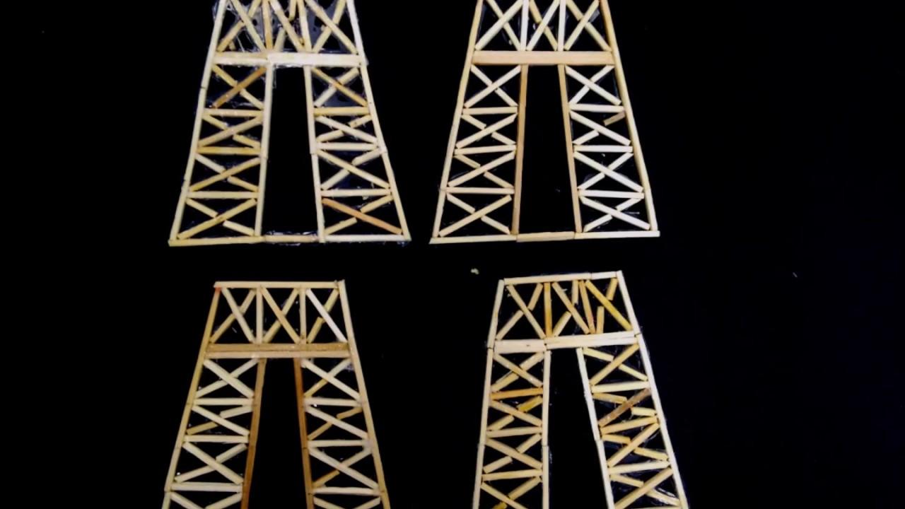 Maquete Da Torre Eiffel De Palitos De Fosforo Youtube