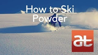 how to ski powder alltracks academy