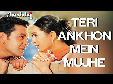 Teri Aankhon Mein - Aashiq | Bobby Deol & Karisma Kapoor | Alka Yagnik & Udit Narayan