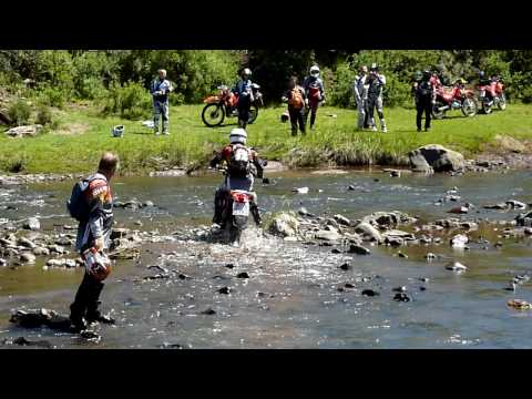 Lesotho - Riders For Health tour - Nov09 - River crossing