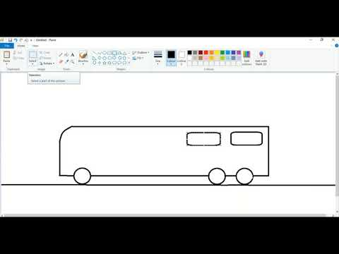 How to draw a bus MS Paint. MS Paint Bus.