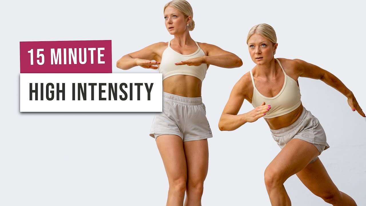 15 MIN HIIT PARTY - Burn Calories, Have Fun - Full Body Cardio Workout - No Equipment