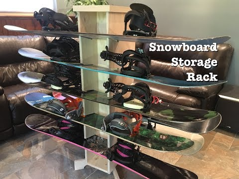 Making a Simple Wooden Snowboard Storage Rack