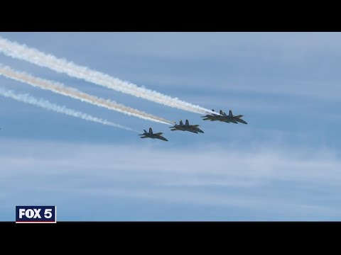 WATCH: Blue Angels, Thunderbirds Fly Over DC To Thank Healthcare Workers | FOX 5 DC