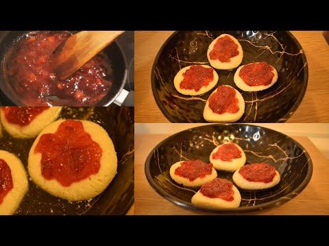 sweet recipe |sponge rasgulla with strawberry jam|Sponge rasgulla recipe|strawberry jam recipe|part2