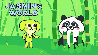 Jasmin's World - Learn and Sing with Ming the Panda & Jasmin *Cartoon for kids*