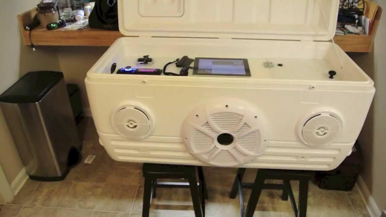 Ice Chest Speaker Cooler part 1 of 2  YouTube