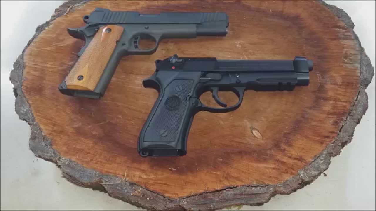 Two Best US Military Pistols 1911 vs  Beretta m9