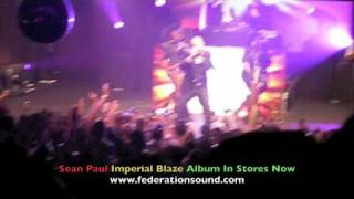 Sean Paul Gimme The Light & Like Glue Live 8.18.09 IMPERIAL BLAZE Album Release Party