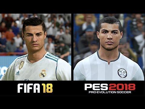 FIFA 18 VS PES 2018   PLAYER FACES COMPARISON