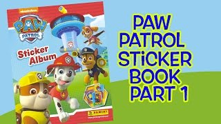 Paw Patrol Sticker Book Part 1