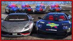 GTA 5 Roleplay - Police Chase Lamborghini 'DRIFT' Crew | RedlineRP #999