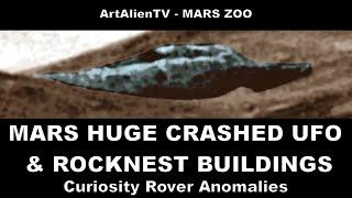 MARS HUGE CRASHED UFO ? ALIEN SAUCER & Mt Sharp Buildings ? ArtAlienTV (PART 1)