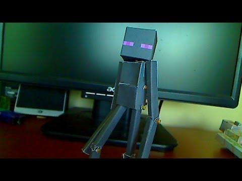 Papercraft How to make a Minecraft Papercraft Enderman