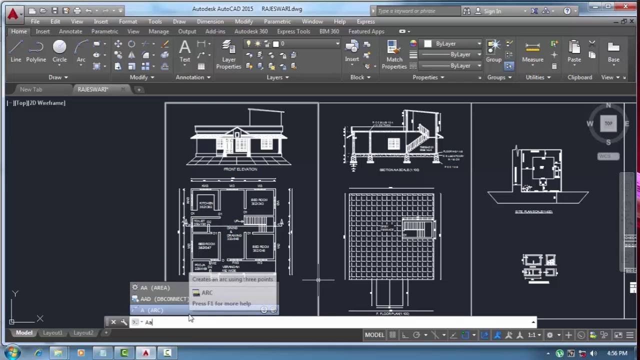 finding sq ft from autocad drawing youtube. Black Bedroom Furniture Sets. Home Design Ideas