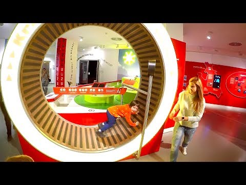 At the Children's Museum of Science   Family Trip to the Best Museums for Kids with TimKo Kid