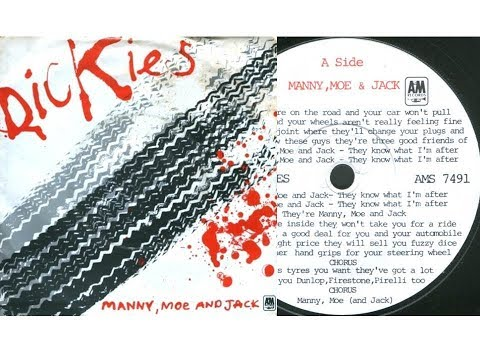 The Dickies - Manny, Moe and Jack (On Screen Lyrics)