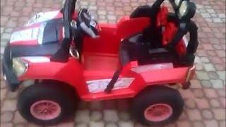 Детский электромобиль на надувных колёсах