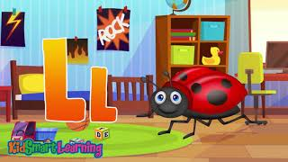 A to Z alphabet and phonic song for kid 10 New version with KidSmart Learning
