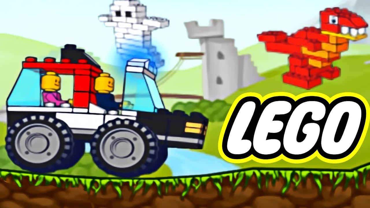 Cartoon Lego 174 Car Police Сar Garbage Truck Truck