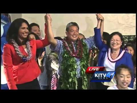Rep. Tulsi Gabbard congratulates Mark Takai on primary win