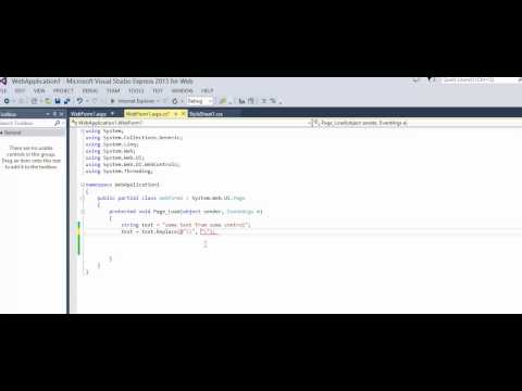 C# - How to fix error - Newline is Constant
