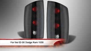 02 06 dodge ram 1500 euro style tail lights