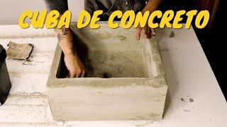 Como fazer cuba de banheiro de concreto