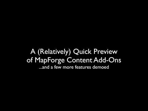 MapForge Add-On Preview Video