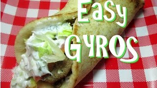 Classic Greek Gyros ~how To Make Easy Gyros